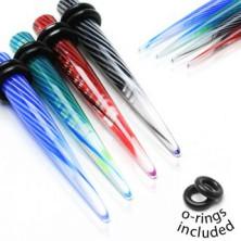 UV Akrylexpander - Spirale, zwei Gummiringe