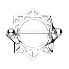 Brustwarzenpiercing, Sonne aus Dreiecken - 2 Stück
