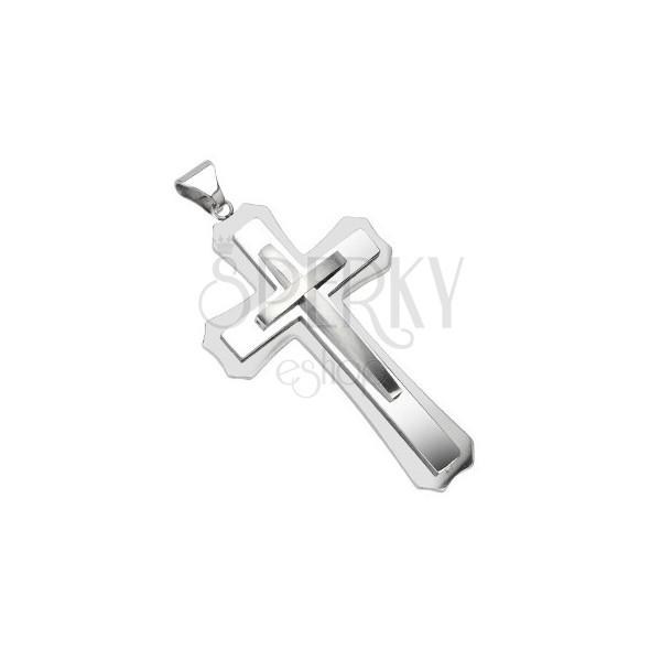 Kettenanhänger - mehrschichtiges massives Kreuz
