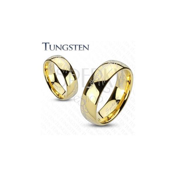 Trauring Aus Tungsten In Gold Motiv Aus Herr Der Ringe Schmuck
