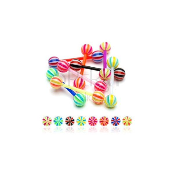 Flexibler UV candy Zungenpiercing