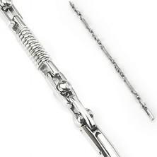 Armschmuck aus Chirurgenstahl - Sprungfeder und Zylinder