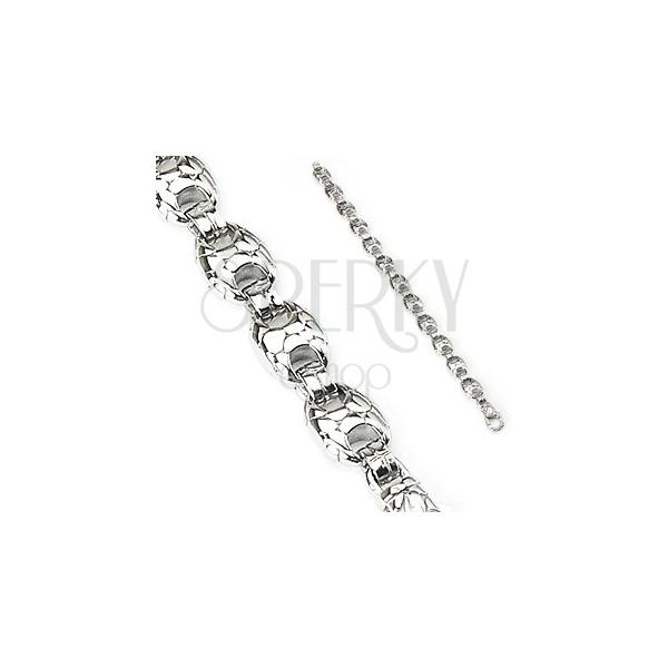 Stahl Armband - runde Glieder in Schlangenoptik