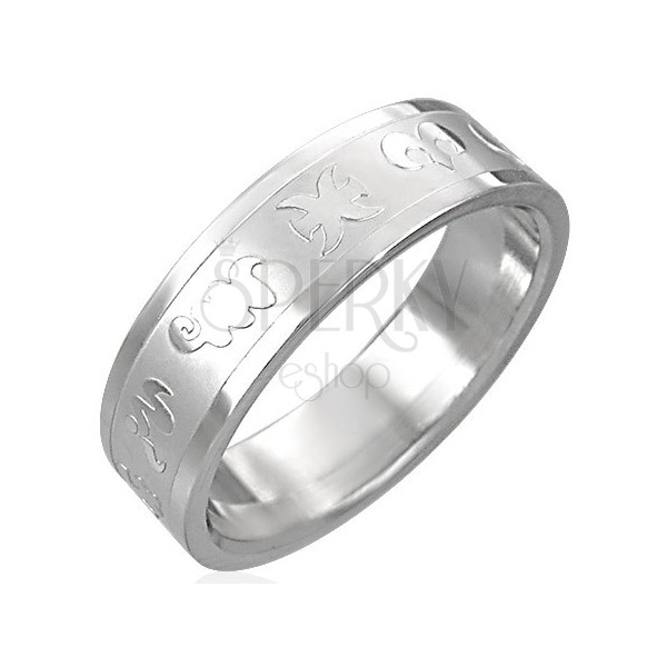 Ring aus Chirurgenstahl mit Tierkreiszeichen
