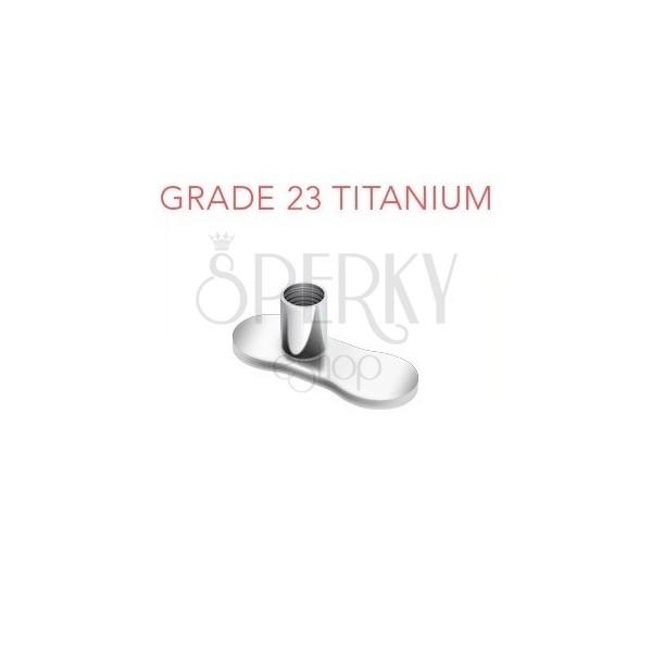 Gestell unter Piercingimplantat aus Titan ohne Löcher