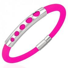 Kautschukarmband in strahlendem Pink - 5 sich vergrößernde Kreise