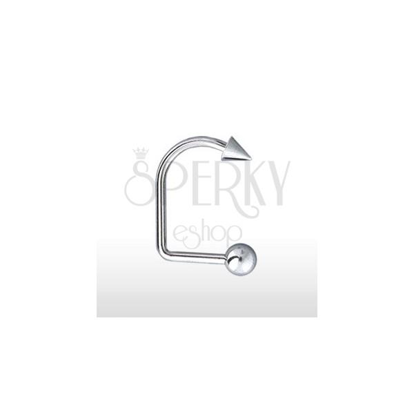 Lippy Loop Labret mit Kugel und Spitze 4 mm / 5 mm