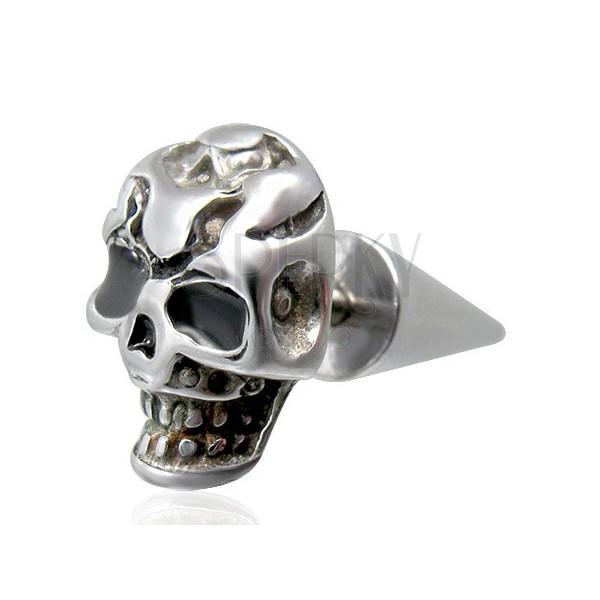 Fake Plug - Totenkopf mit gefletschten Zähnen
