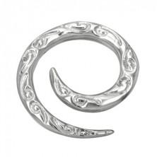 Spirale - Ohrexpander mit Wellenmuster