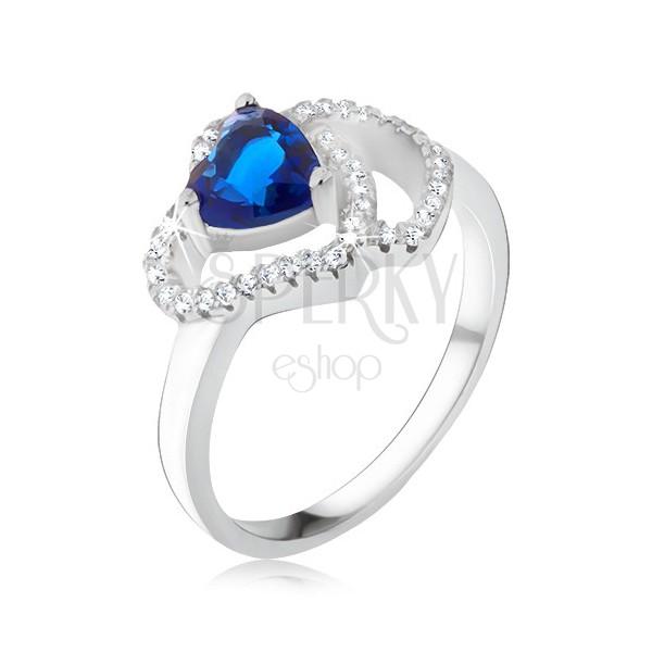 ring aus silber 925 blauer herf rmiger stein zirkonia herzumrisse schmuck eshop at. Black Bedroom Furniture Sets. Home Design Ideas