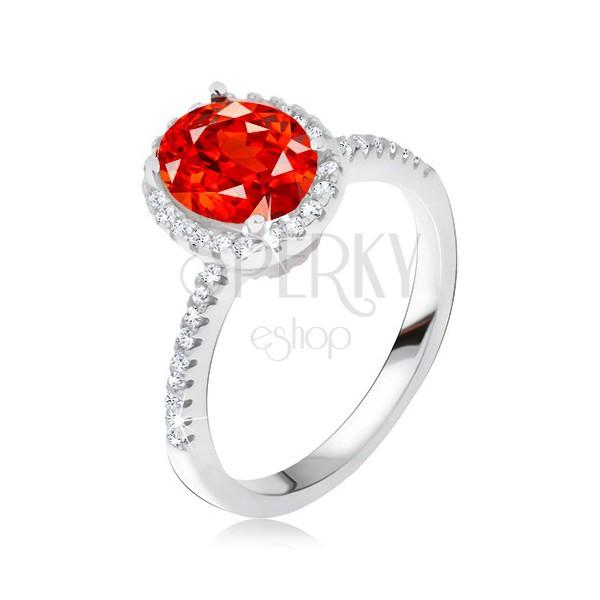 adisaer sterling silber ringe verlobungsring damenring diamant rot oval bandring mit stein gr e. Black Bedroom Furniture Sets. Home Design Ideas