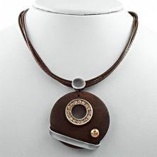 Halsband mit Anhänger - Zirkonring