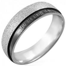 Ring aus Stahl mit Aufschrift - You are always in my heart