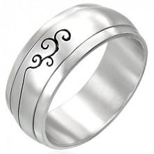 Drehbarer Ring aus Edelstahl mit Ornamenten
