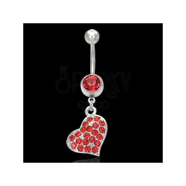 Belly button ring - ein rotes Herz