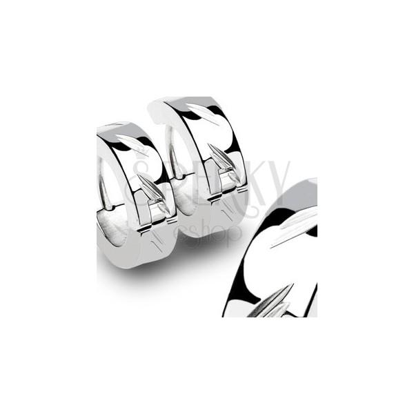 Stahl Ohrringe mit schrägen kornförmigen Einschnitten