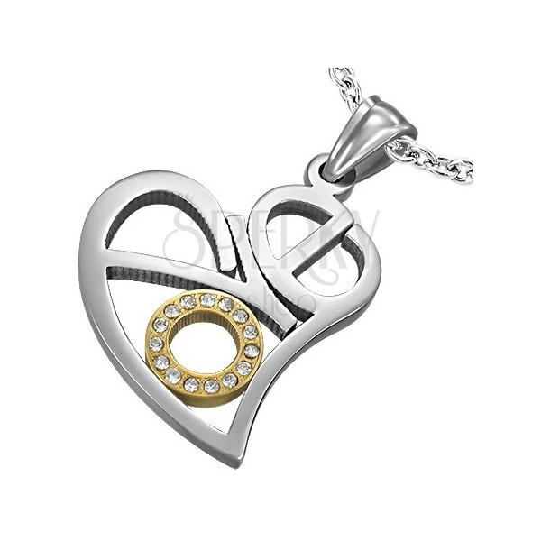 Stahlanhänger - ausgeschnittenes Herz