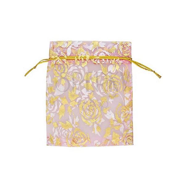 Geschenkverpackung - Leinenbeutel in pink