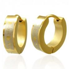 Goldene Love Kiss Ohrringe aus Chirurgenstahl