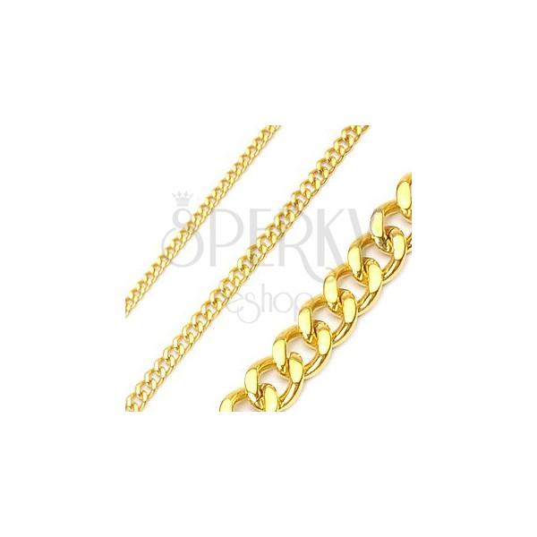 Goldene Panzerkette aus Chirurgenstahl
