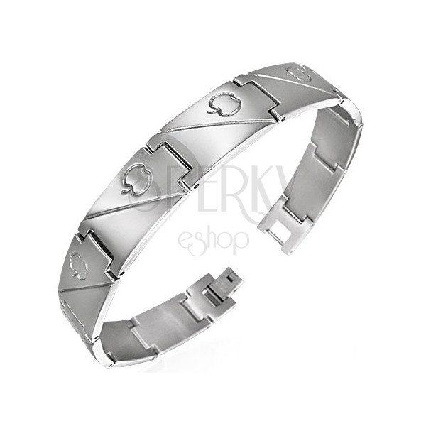 Armband aus Stahl - Apfel als Liebessymbol