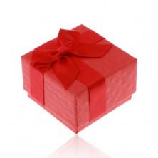 Rote Geschenkschachtel für Ring, Anhänger oder Ohrringe, glänzende Schleife