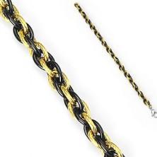 Flechtarmband aus Chirurgenstahl in zwei Farben