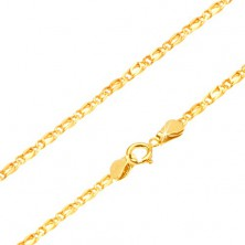 Goldene Kette - glänzende Komponente, flach, 490 mm