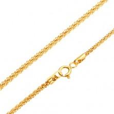 Goldkette - strukturiertes Schlangenmuster, runder Durchschnitt, 450 mm
