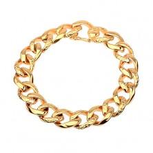 Armband aus 316L Stahl, goldfarbene dicke Kette mit Schlangenmuster