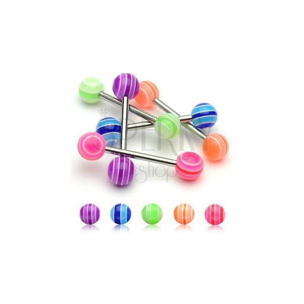 Zungenpiercing - UV Multicolor Ball