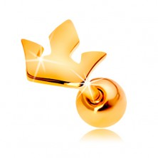 Ohrpiercing aus 14K Gelbgold - kleine Dreikrone