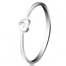Diamantring aus 14K Weißgold – Herz mit klarem Brillant