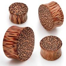 Sattelohrplug in Kokosbaumoptik