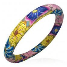 FIMO Armband mit Blumenmuster im Hippie-Stil