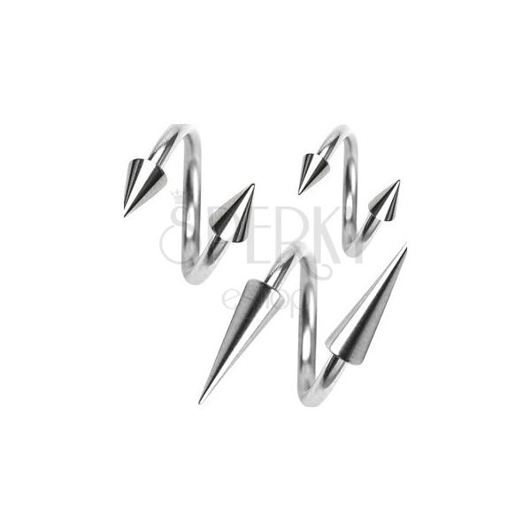 Edelstahlspirale mit Spitzen, 1,6 mm