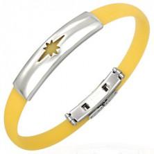 Silikonarmband Stern in gelber Farbe