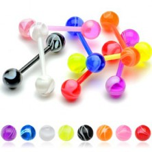 Zungenpiercing - UV Kugel