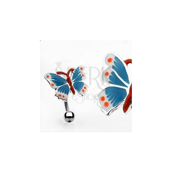 Nabelpiercing - bunter Schmetterling