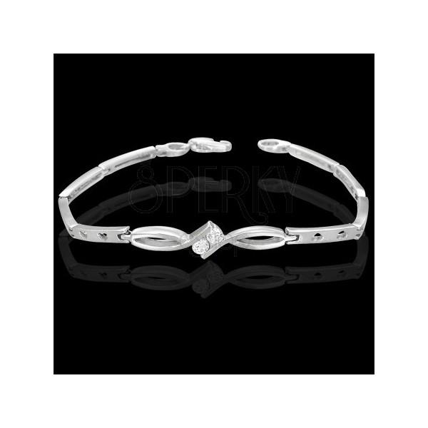 Damenarmband mit zwei Schmucksteinchen, Verzierung
