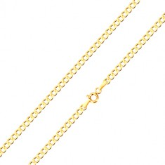 375 Gelbgold Kette - leicht abgeschrägte sechseckige Glieder, 500 mm