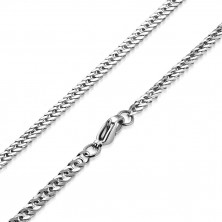 Stahl Kette, glänzende Oberfläche - spiralförmig gedrehte längliche Glieder, 3,5 mm