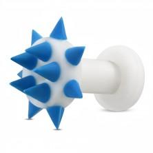 Silikon Ohr Tunnel - blaue Spitzen auf dem Kreis und Umfang