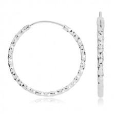 Ohrringe aus 925 Silber - klassische Kreise mit geometrischem Motiv