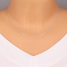 925 Silberkette - rechtwinklig verbundene Glieder, flache Kreise, 1,3 mm