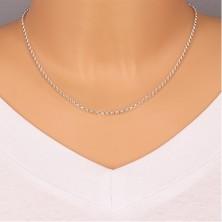 925 Silber Kette - breitere runde Glieder, glänzende Oberfläche, 2,6 mm