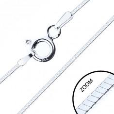 Dünne viereckige Kette, Silber 925, Kettenbreite 0,6 mm, Kettenlänge 500 mm