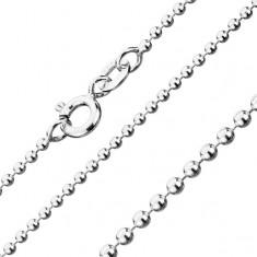 Halskette aus Silber 925, Armee Kugeln, Kettenbreite 1,5 mm, Kettenlänge 550 mm
