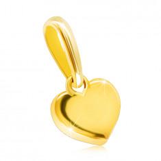 9K Gelbgold Anhänger – kleines glänzendes Herz