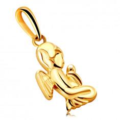 Gold Anhänger aus 9K Gold – betender Engel auf den Knien